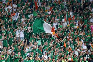 Republic of Ireland fans in the stands during the UEFA Euro 2012, Group C match at the Municipal Stadium, Poland