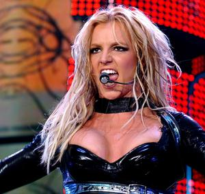 Britney Spears, pictured here performing in Belfast in 2004