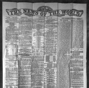 The front page of the News of the World on 10/04/1870