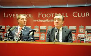 LIVERPOOL, UNITED KINGDOM - JUNE 01:  Brendan Rodgers (L) is unveiled as the new Liverpool FC manager by Ian Ayres (R) Managing Director of Liverpool FC at a press conference at Anfield on June 01, 2012 in Liverpool, England. (Photo by Clint Hughes/Getty Images)