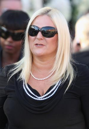 Vanessa Feltz attends the funeral of Boyzone singer Stephen Gately at St Laurence O'Toole Church in Dublin