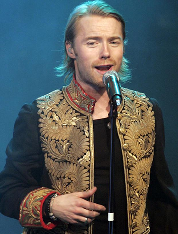 Ronan Keating of Boyzone performs at G.A.Y. on March 1, 2008