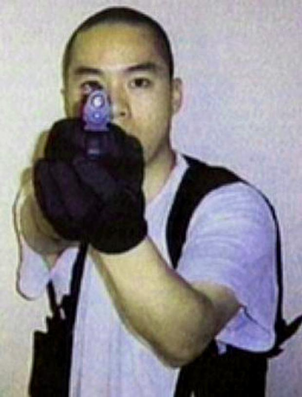 Cho Seung-Hui in one of the images he sent to American broadcaster, NBC