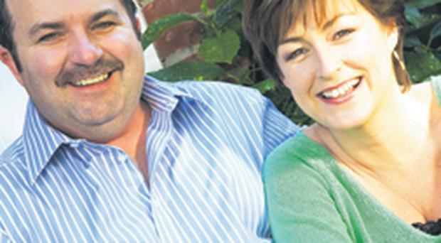 Ronan Kelly and wife Donna Traynor want to raise awareness about throat cancer