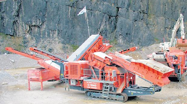 Some of the crushing equipment made by Terex Finlay in Omagh