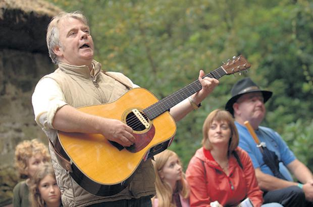 Lurgan musician Patsy Toman from Northern Exposure plays at the annual Appalachian and Bluegrass musical festival at the Ulster American Folk Park in Omagh