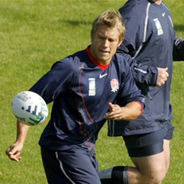Jonny Wilkinson left the training session early after sustaining an ankle injury