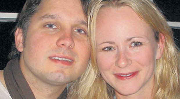 Snow Patrol drummer Jonny Quinn with his fiancee Mariane Rokke