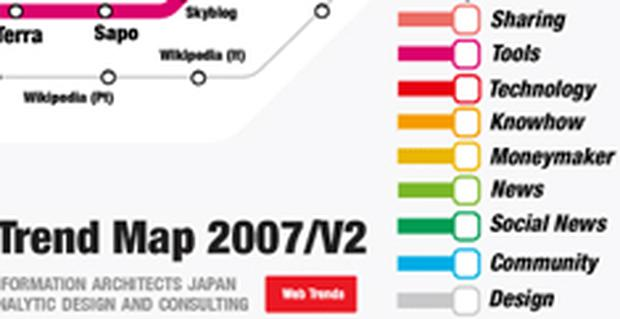 Latest Web Trend Map modelled on the Tokyo Metro map
