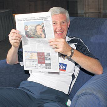 Northern Ireland manager Nigel Worthington hopes the headlines in tomorrow's newspapers will make pleasant reading after his side's vital Euro 2008 qualifier against Latvia