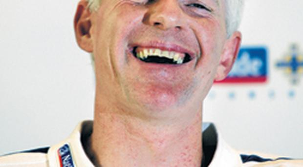 Nigel Worthington enjoys a laugh at yesterday's press conference but will he still be laughing after tonight's game in Iceland?