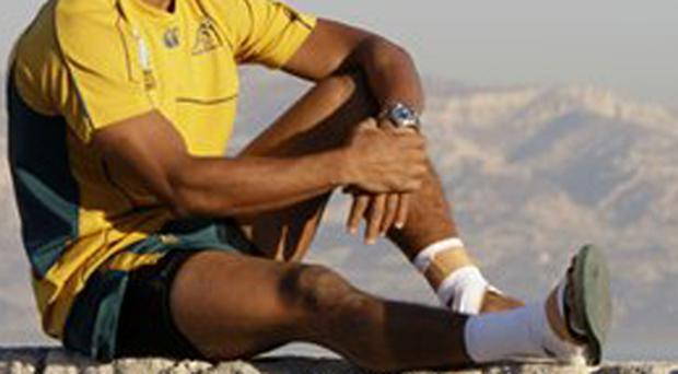 Australian halfback George Gregan looks over the southern French city of Marseille from Fort St Nicolas,Tuesday Oct 2, 2007. Australia plays England in a quarter-final in Marseille on Saturday Oct 6.