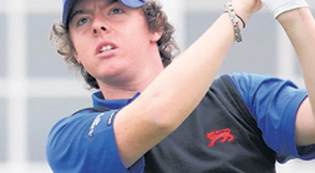 Riding high: Rory McIlroy