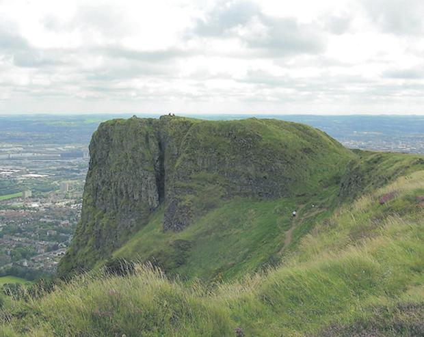 Cave Hill derives its name from the caves on the cliffs, which were possibly early iron mines