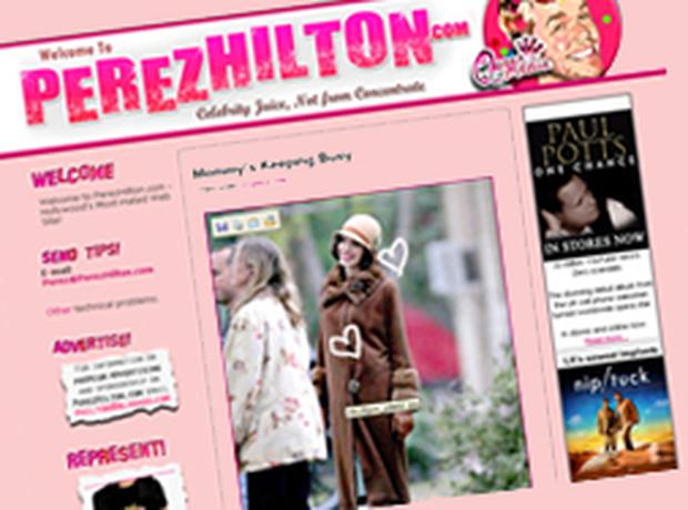 Perez Hilton is the pseudonym of 29-year-old Mario Lavandeira whose vitriolic comments and habit of drawing over celebrity pictures have made him one of the best-known bloggers in the world.
