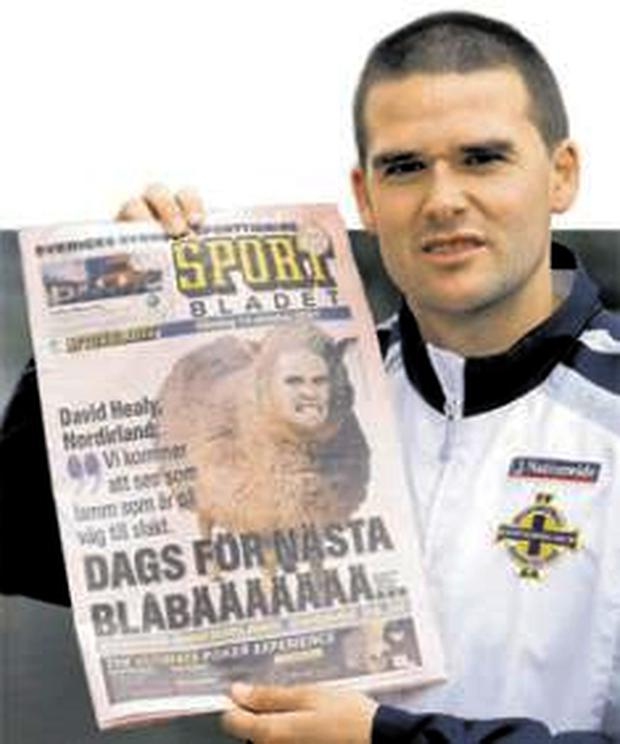 David Healy will be hoping to make a donkey Freddie Ljungberg and his Swedish team-mates tomorrow night