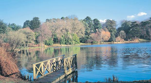 The picturesque lake at Mount Stewart