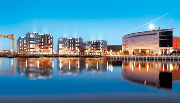 The prestigious Titanic Quarter development