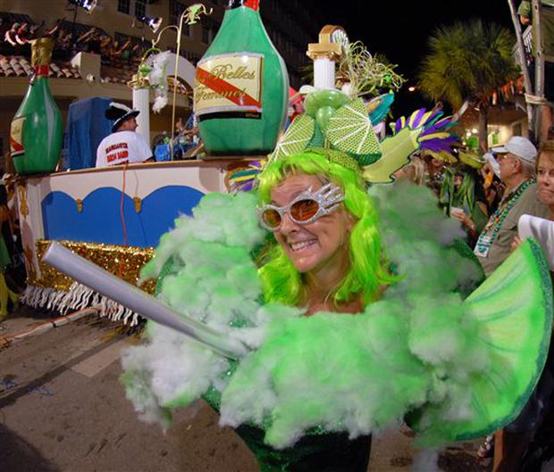 Fantasy Fest Key West Florida A Woman Costumed As A Giant Margarita Marches Down Duval Street Late Saturday Oct