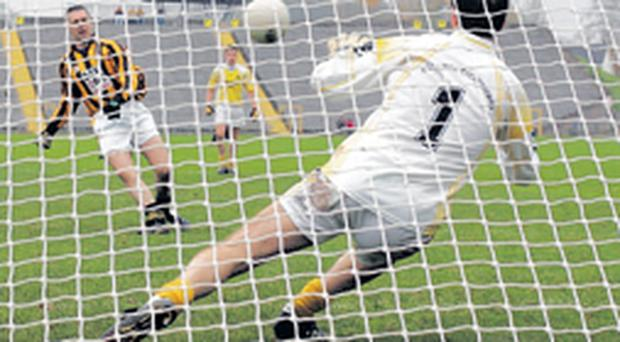 Oisin McConville of Crossmaglen had his penalty saved by Clontibret goalkeeper Paul McElroy although McConville scored from the rebound