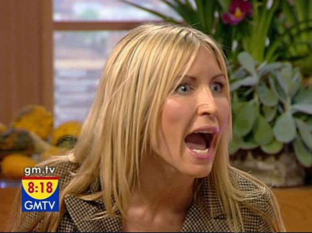 Emotional Heather McCartney during her GMTV interview today