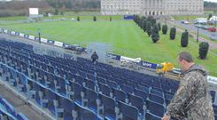 Fans will be in for a grandstand view of the world's best rally stars and Stormont when Rally Ireland roars off the starting line today