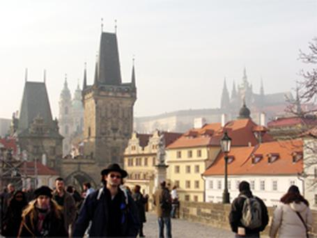 Prague is majestically set astride the Vltava river