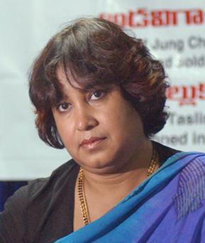 Taslima Nasrin, whose books raise the plight of oppressed women, fled Kolkata after Muslim activists led violent protests in which 50 people were injured