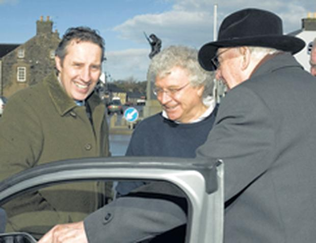 Ian Paisley and Ian Paisley Jnr with developer Seymour Sweeney