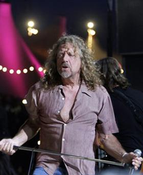 Led Zeppelin: singer Robert Plant