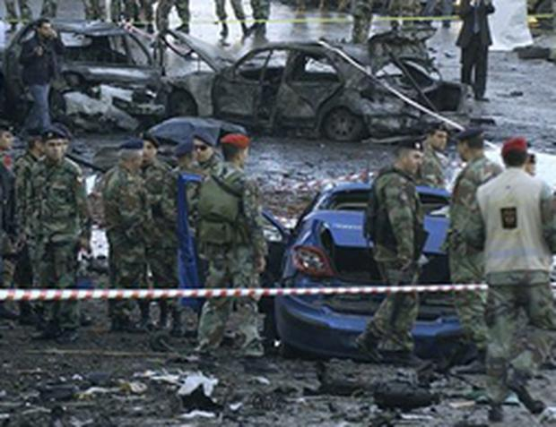 The car bomb in Baabda, a Christian town east of Beirut, killed General Francois El-Hajj and some of his bodyguards
