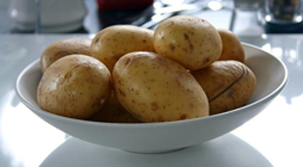 Potatoes do not count towards the five-a-day recommended daily intake