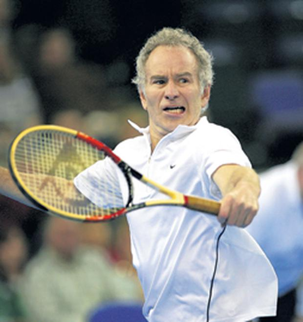 John McEnroe is looking forward to renewing his rivalry with Bjorn Borg next February in Belfast where, he says,