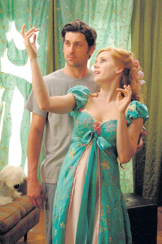 Patrick Dempsey (Robert Phillips) and Amy Adams (Giselle) in the latest Disney movie Enchanted.