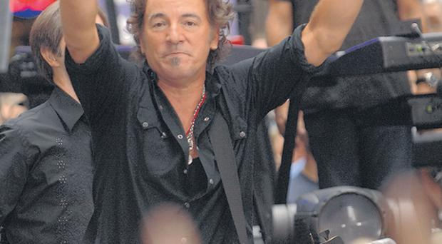 Bruce Springsteen and the E Street Band perform on NBC's 'Today Show' concert series at Rockefeller Plaza September 28, 2007 in New York City.