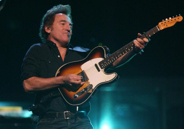 Bruce Springsteen performing at Belfast's Odyssey arena