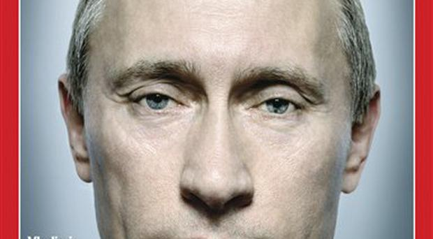 Time cover: Vladimir Putin told the magazine that his KGB training had taught him to 'think independently'