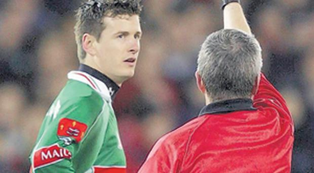 Players could soon be sent off via a yellow card rather than a red one