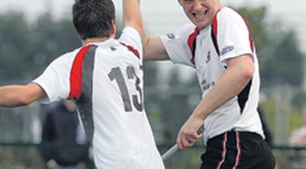 Peter Caruth (left) and Aaron Mills will hope to be celebrating Annadale's Kirk Cup success on Boxing Day