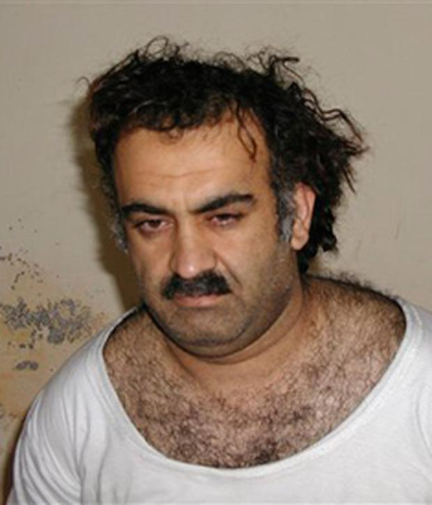 Khalid Sheikh Mohammed, the alleged Sept. 11 mastermind, is seen shortly after his capture during a raid in Pakistan (AP Photo-File)