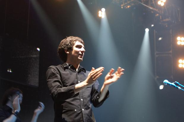 Snow Patrol's lead singer Gary Lightbody on stage at the Odyssey Arena (Picture: Michael Cooper)