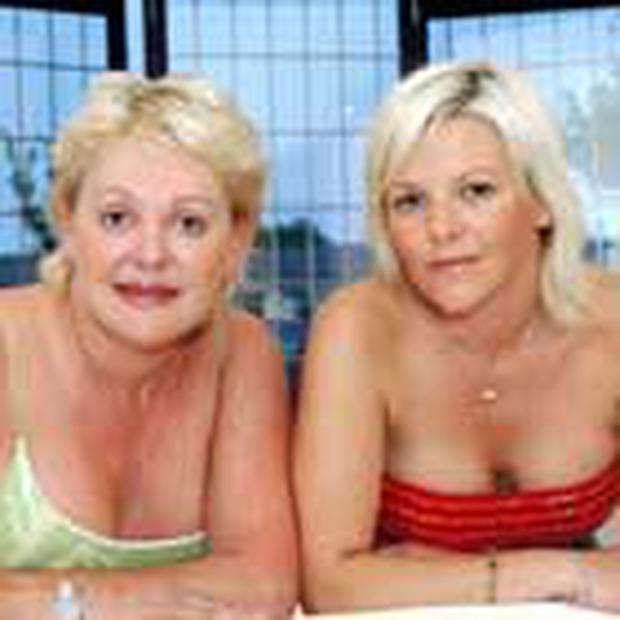 """<!-- Enter image here --> <!-- Enter caption here --> <font color=""""#999999"""">Halina Ashdown-Shiels and her daughter Debbie show off their cosmetically-enhanced figures</font>"""