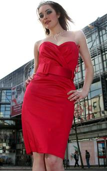 WHO IS THE CITY'S MOST GORGEOUS?<br/>Rebecca Hughes current Miss Belfast at the official launch of this year's contest. The final will be held at the Magners Light Spring into Summer at St. George's Market on April 15