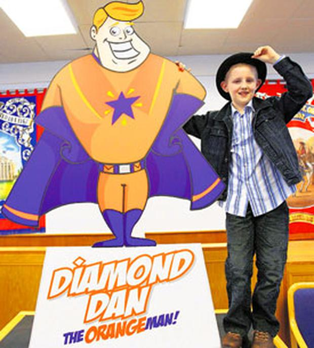 Is it a bird? Is it a plane? No it's Diamond Dan the Orangeman