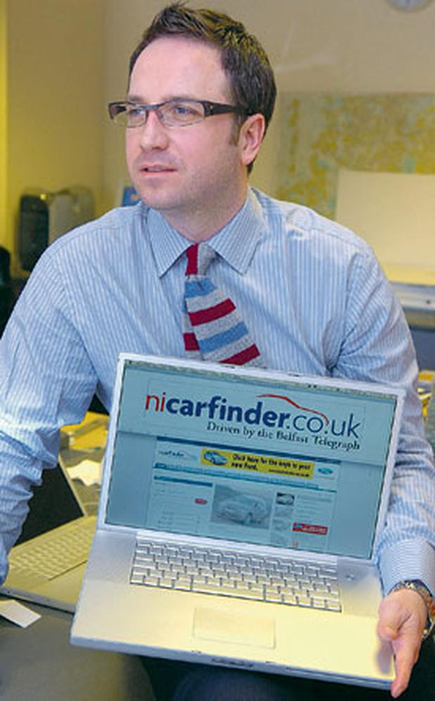 Gerry Patterson, Director of Digital Development in Belfast Telegraph, with the new website