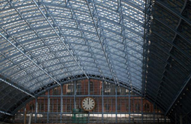 The ironwork of St Pancras Station