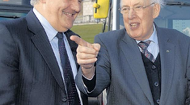 First Minister Ian Paisley with Wright Group managing director Mark Nodder