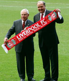 Liverpool co-owners George Gillett (left) and Tom Hicks