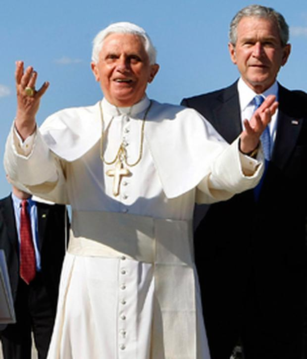 Pope Benedict and President Bush