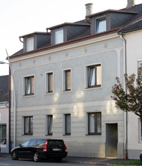 The house in Amstetten, Austria, where the girl is believed to have imprisoned for 24 years